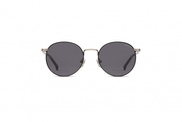 sonnenbrille-komono-the-taylor-silver-black-frontansicht