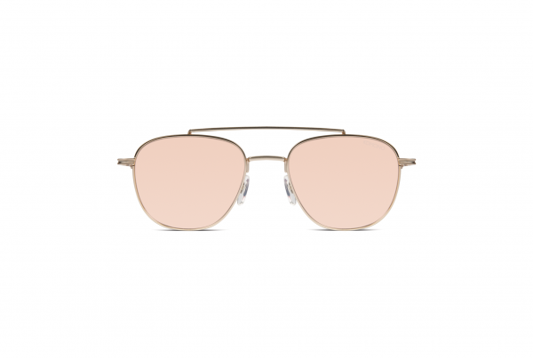 Komono Sonnenbrille the Alex in rose gold mirror, Frontansicht
