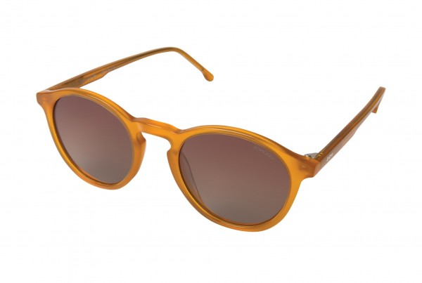 Sonnenbrille Komono The Aston honey - unisex - Seitenansicht